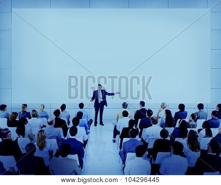 Diverse Business People Conference Speaker Concept