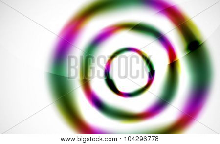 Glossy blurred swirl circle shapes abstract background, web pattern for your message