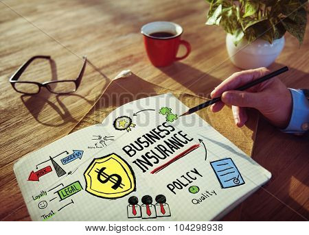 Working Table Workplace Risk Business Insurance Concept
