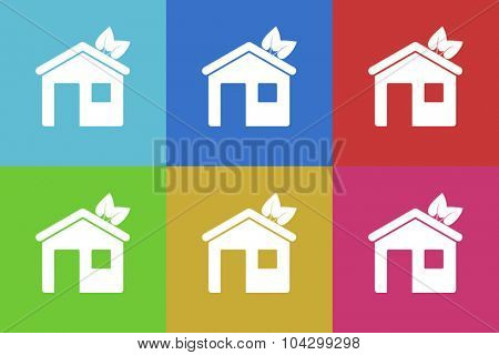 house flat design modern vector icons colorful set for web and mobile app