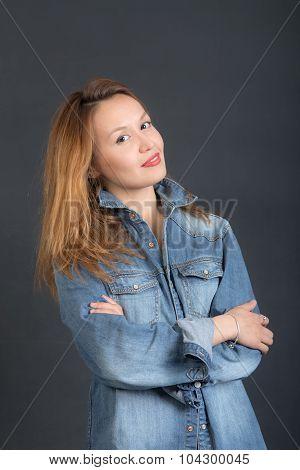 Girl In Denim Jacket