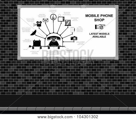 Mobile Phone Shop Advertising board
