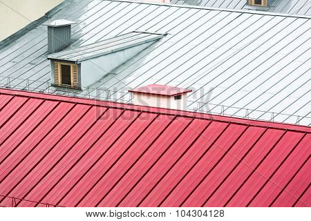 New Metal Roofing Background
