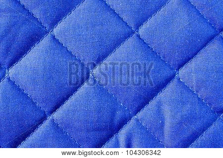Background Blue Fabric In A Cage