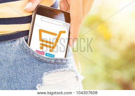 Phone In Bag Easily Lifestyle Concept