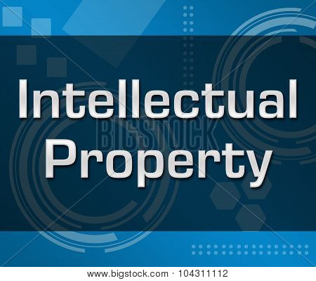 Intellectual Property Abstract Blue Background