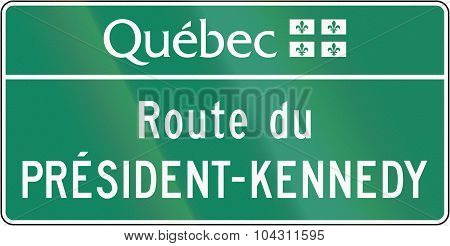 Quebec President-kennedy-route