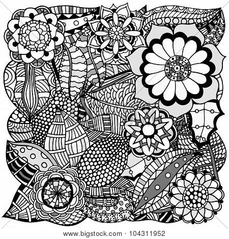 Floral Zentangle