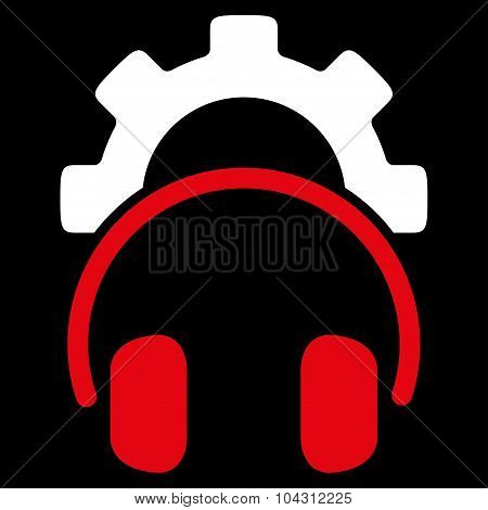 Headset Configuration Flat Icon