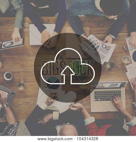 Marketing Analysis Team Teamwork Cloud Computing Concept