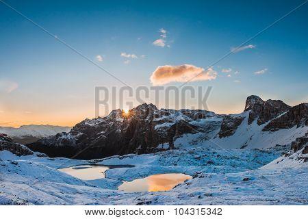 Italy Alps Dolomites  Tre Cime  Lago dei Piani
