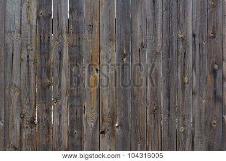 Old Wooden Fence .