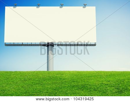 Bill Board Advertising Notice Nature Green Concept