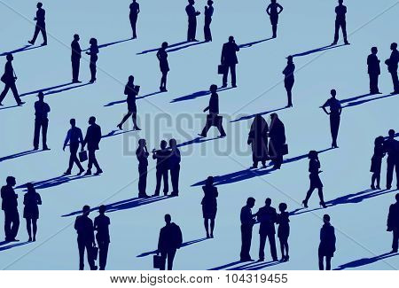 Business Corporate People Silhouette Concept