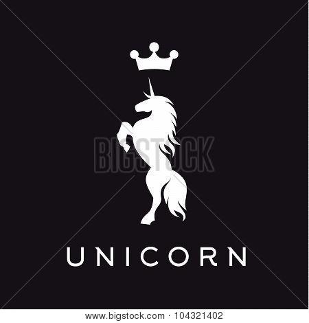 Unicorn vector logo icon flat style illustration