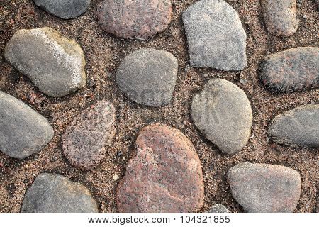 Ancient Cobblestone Pavement Background