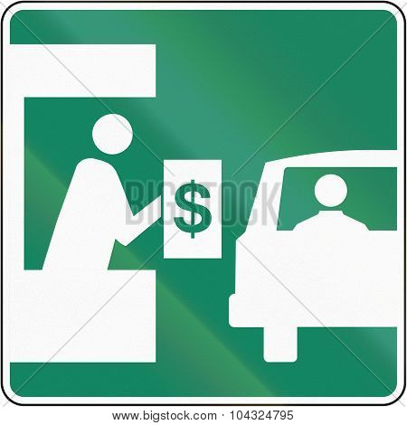 Toll Booth In Canada
