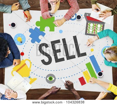 Sell Earning Money Payment Purchasing Concept