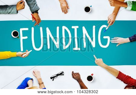 Funding Finance Fundriser Global Business Invest Concept