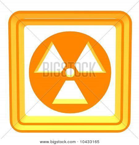 3D Bio Hazzard símbolo