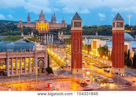 Placa Espanya in Barcelona, Catalonia, Spain
