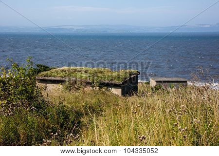 Wwii Bunkers On Crammond Island, Edinburgh, Scotland