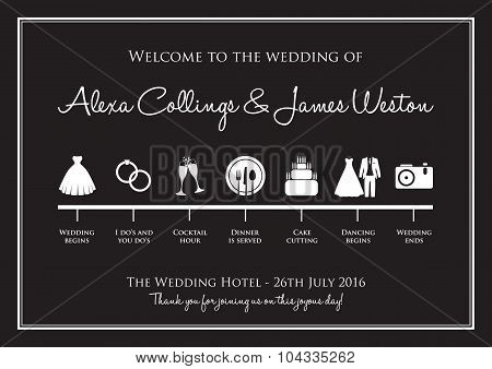 wedding timeline background