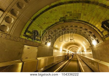 Old Elbtunnel In Hamburg, Germany, Editorial