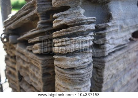 Corner Of An Eroding Sandstone Pillar