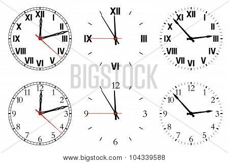 Set watch isolated on a white background.