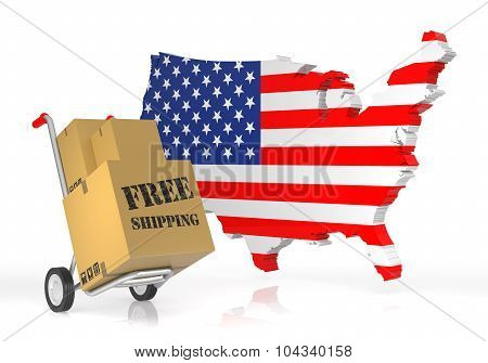 Free Shipping With Usa Map