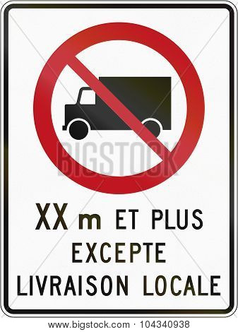 No Lorries With Length In Canada