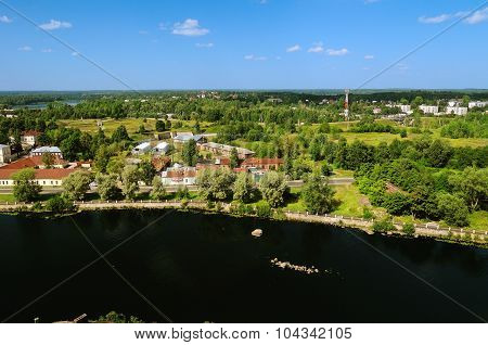 View Of The  Vyborg Territory From The Tower Of The Vyborg Castle