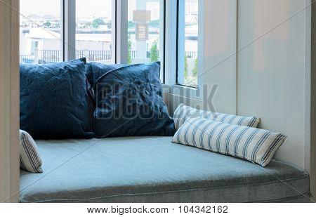 Cushions And Glass Window