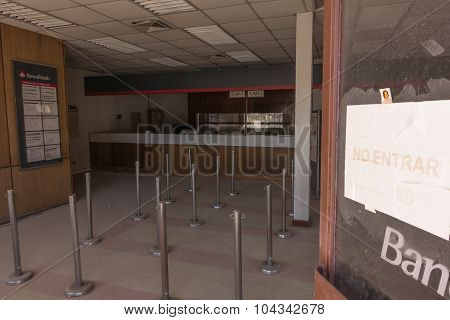 Abandoned bank, Chuquicamata ghost town