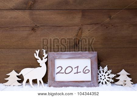 Shabby Chic Christmas Card With 2016