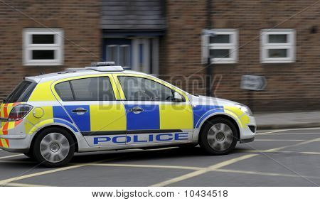 Police Car In Oxford
