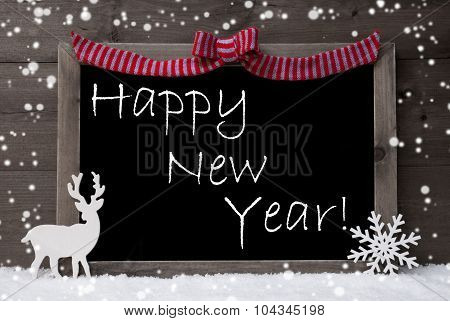 Gray Christmas Card, Snowflakes, Loop, Happy New  Year
