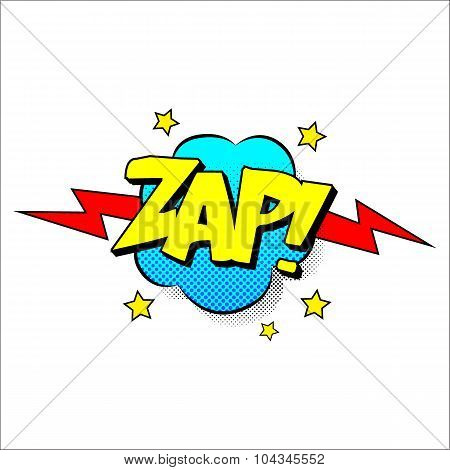 Zap sound effect illustration