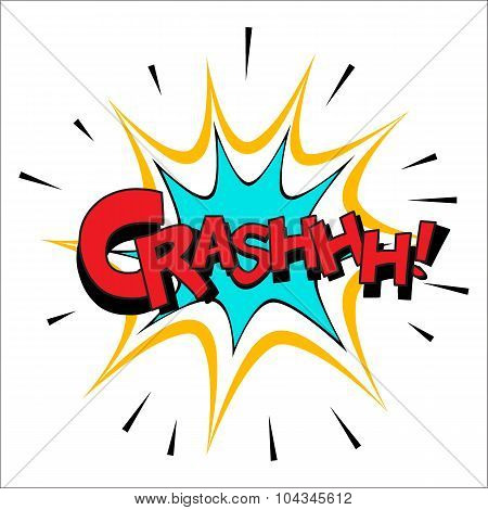 Crash sound effect illustration