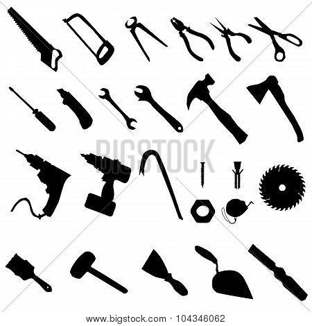 Tools silhouette set