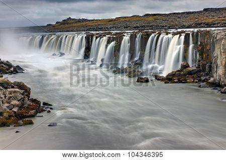The powerful Selfoss waterfall