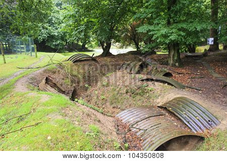 Trenches Of The First World War In Belgium