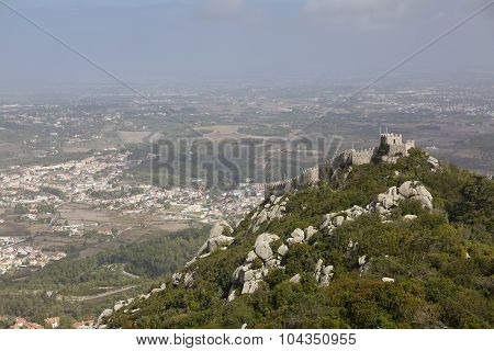 Ruins Of Castle Of The Moors, Sintra, Portugal
