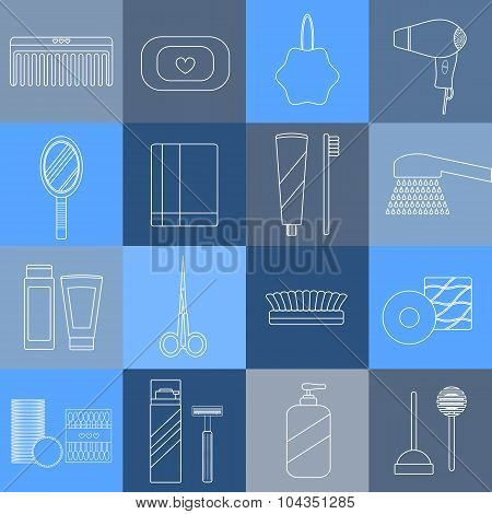 Hygiene Outline Icons.