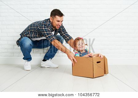 Happy Family Moves To New Apartment.