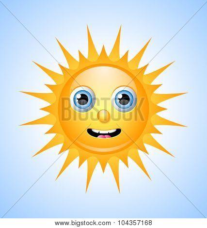 Cute Sun Character