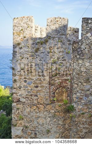 Alanya's old city and castle Kizil Kule, Turkey