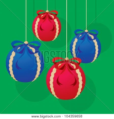 Christmas balls decoration as vector illustration
