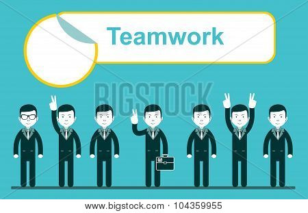 team work design, vector illustration eps10